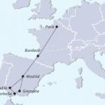 Mapa gran tour Francia-España