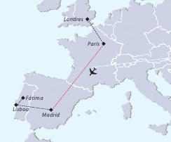 Mapa recorrido viaje a Inglaterra