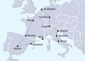 mapa tour viejo continente