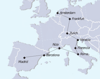 Mapa recorrido tour carrusel europeo