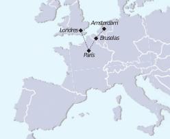 Recorrido mapa Tour Capitales Europeas