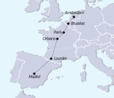 Mapar recorrido tour vacaciones en europa