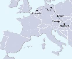 mapa tour recorrer Europa