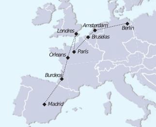 mapa recorrido tour