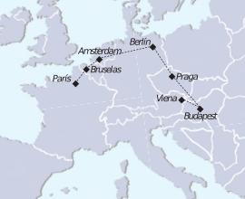 Recorrido de París a Viena
